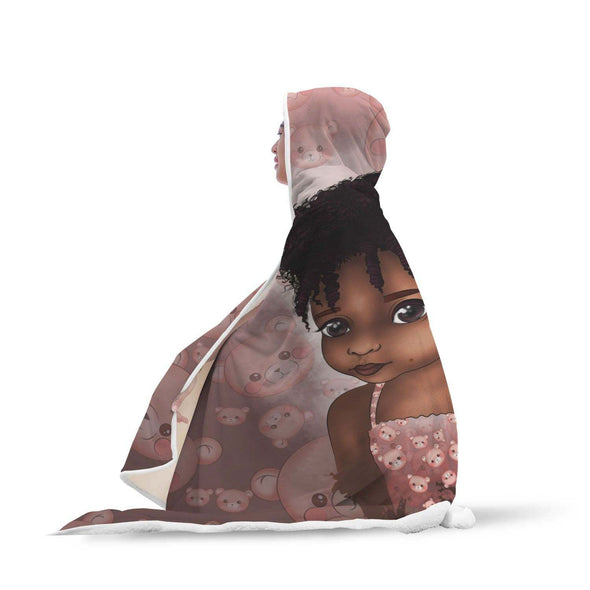 African American Gifts Hooded Blanket - Afro Adorable Black Daughter Hooded Blanket