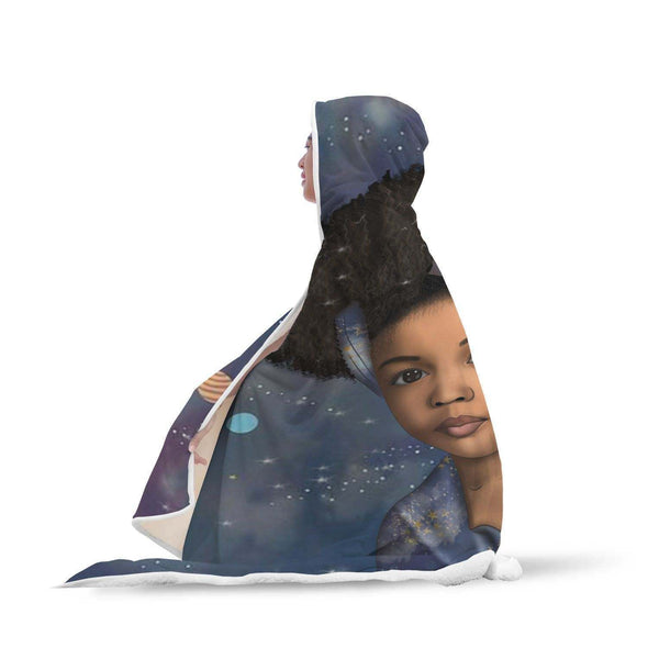 Afro Kid Art Hooded Blanket - To My Daughter Afro Traditional Girl Hooded Blanket