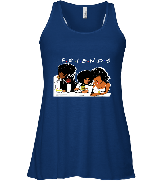 African American Black Friends With Afro Melanin Poppin Girls Party Racerback Tank