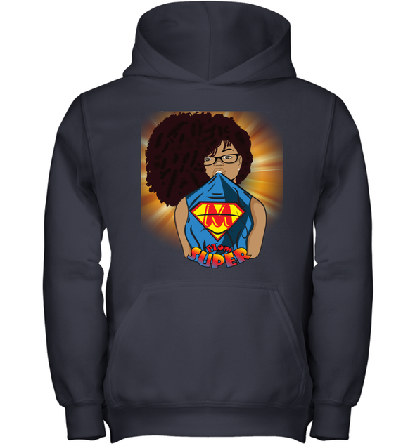 Afro Black Mom - Mother's Day Super Mom Youth Hoodie