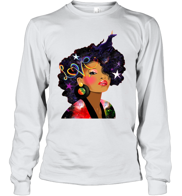 Afro Women Beauty - Love My Natural Hair Youth Long Sleeve