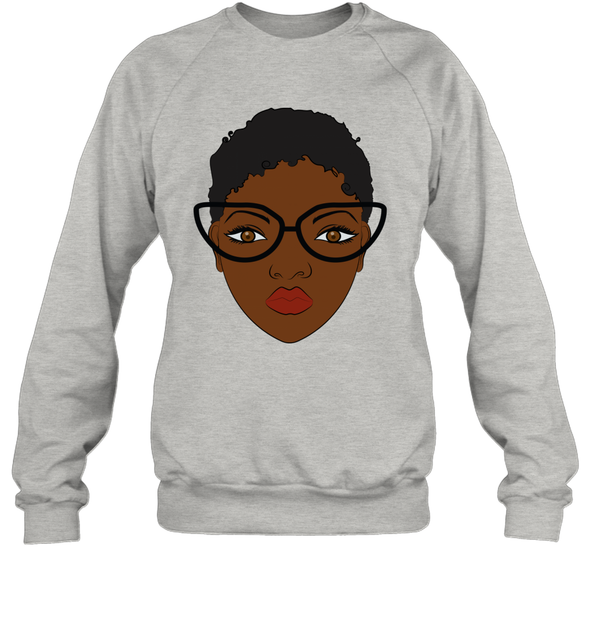 Natural Hair Journey Art - African Black Short Hair Sweatshirt