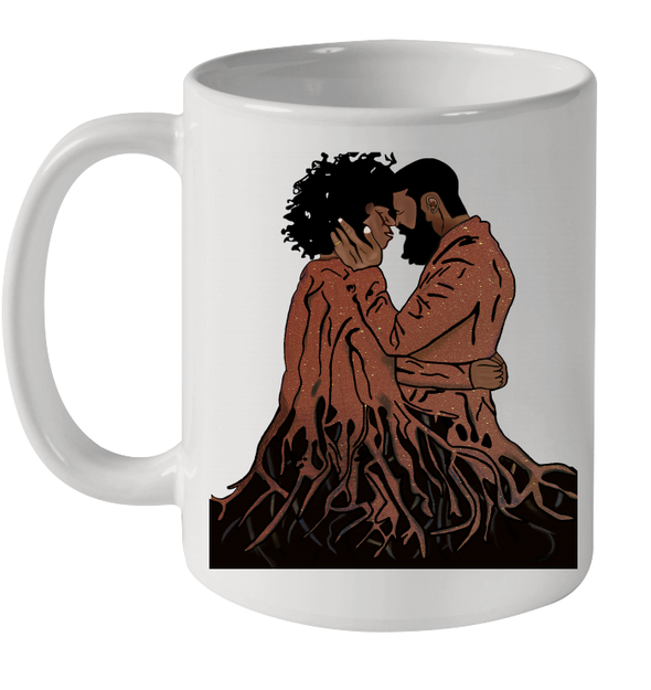 African Forever Love Roots Couple Naptural Black Couple Art Mug