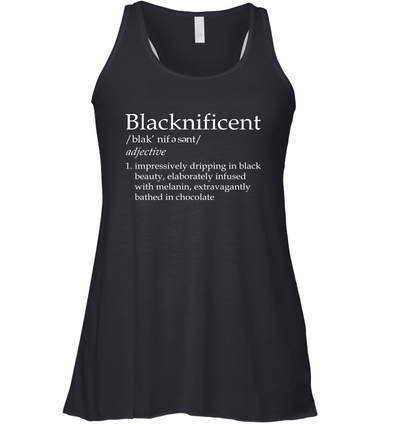 Blacknificent Definition Racerback Tank