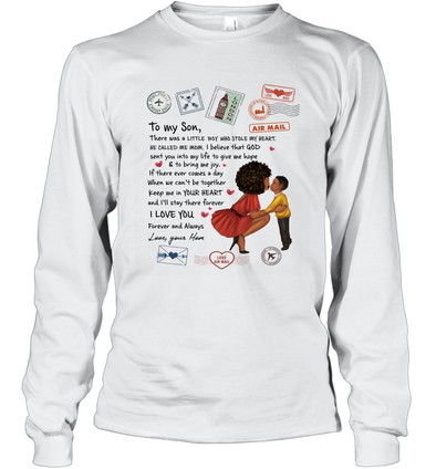 Stamps Keep Me In Your Hear - Modern Mother To Son Long Sleeve T-Shirt