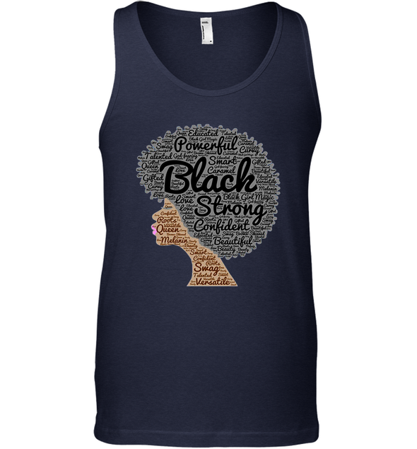 Naptural Hair Art - Afro Black Strong Tank Top
