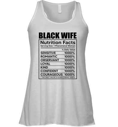 Black Wife Nutrition Facts Flowy Tank