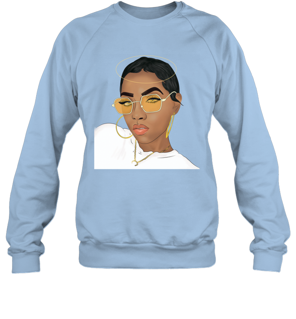 Black Girl Magic - Natural Short Hair Girl Style Sweatshirt
