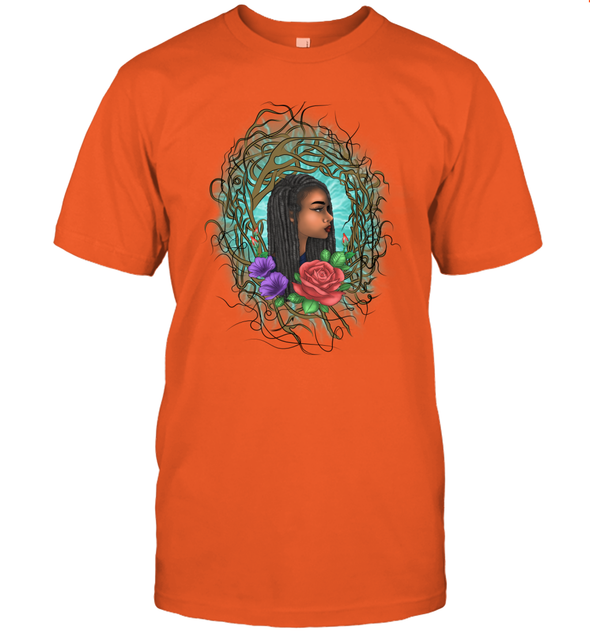 Locs Style For Women Art Wild Natural Style Long Hair Girl T-Shirt