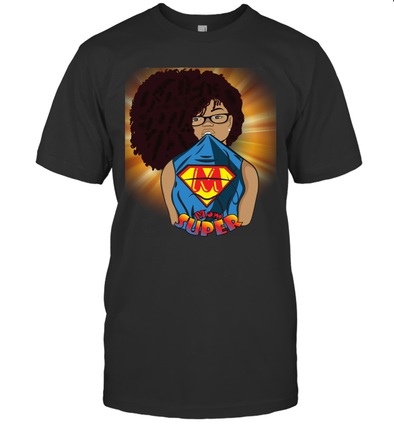 Afro Black Mom - Mother's Day Super Mom T-Shirt