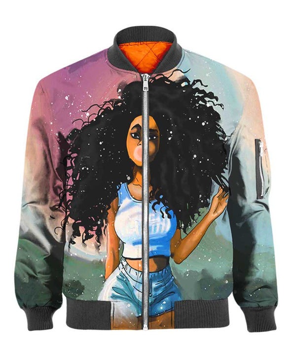 Afro Curly Bubble Girl All Over Apparel