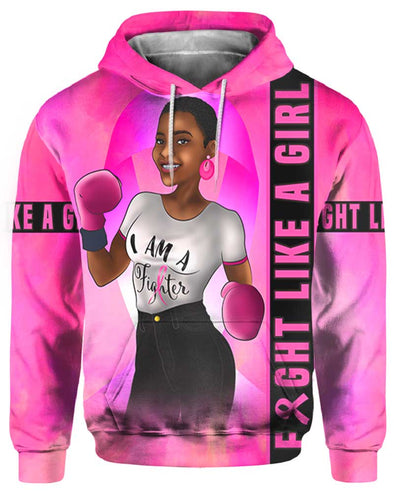 Fight Like A Girl Breast Cancer Awareness All Over Apparel 1
