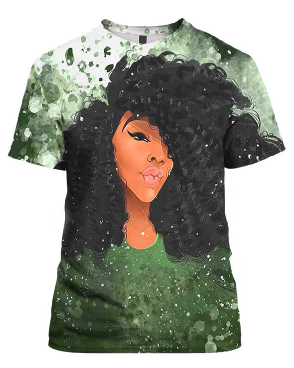 Afro Curly Girl All Over Apparel