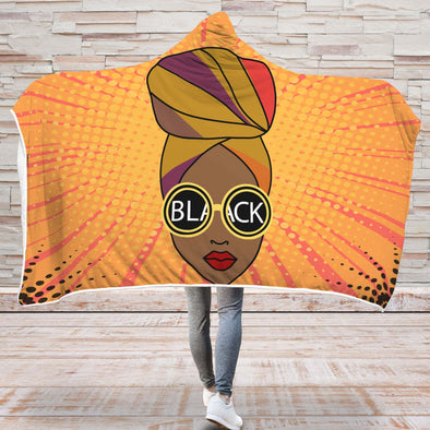 Black Girl Magic Hooded Blanket - Headwraps Hooded Blanket