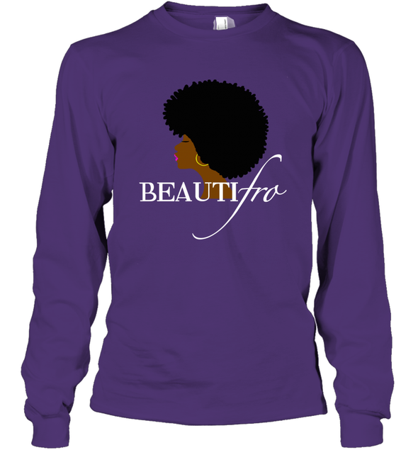 Black Women Art - Afro Beauty Long Sleeve T-Shirt