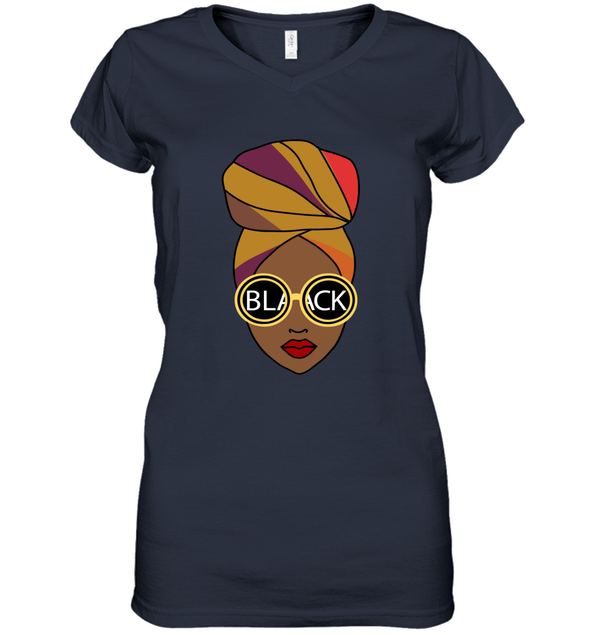 Black Girl Magic - Headwraps Women's V-Neck T-Shirt