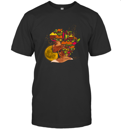 African Women Art - Black African Women Colorful Art T-Shirt