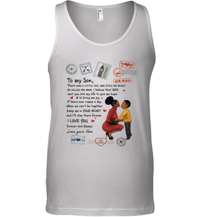Stamps Keep Me In Your Hear - Elegant Mother To Son Tank Top