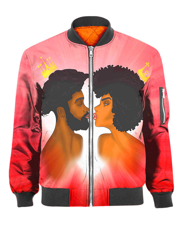 King And Queen Love Couple Kiss All Over Apparel