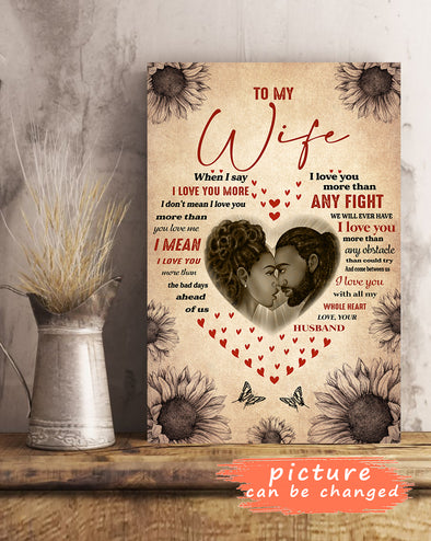 To My Wife I Love You Personalized Poster Custom Image Picture Love Message Gift Ideas