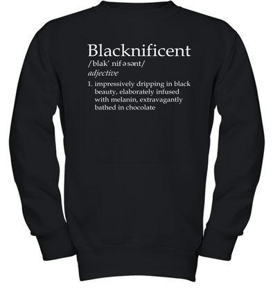 Blacknificent Definition Youth Sweatshirt