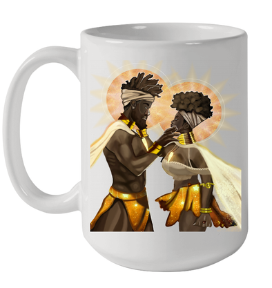 African American King And Queen Black Couple Mug