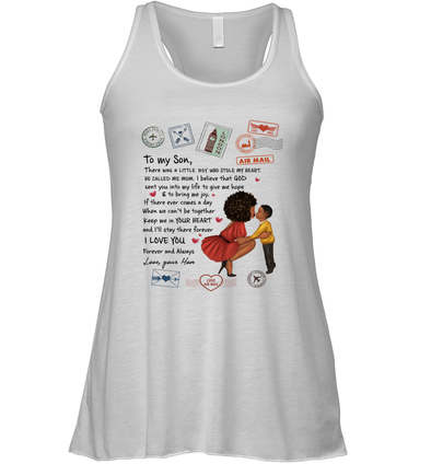 Stamps Keep Me In Your Hear - Modern Mother To Son Racerback Tank