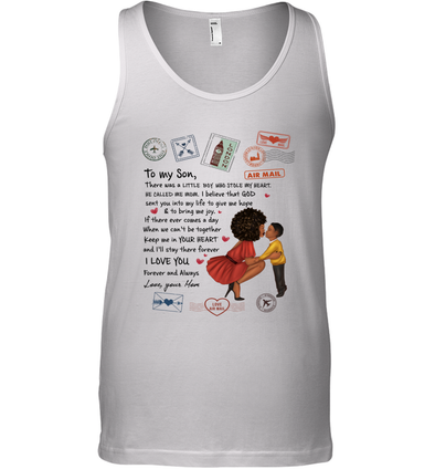 Stamps Keep Me In Your Hear - Modern Mother To Son Tank Top