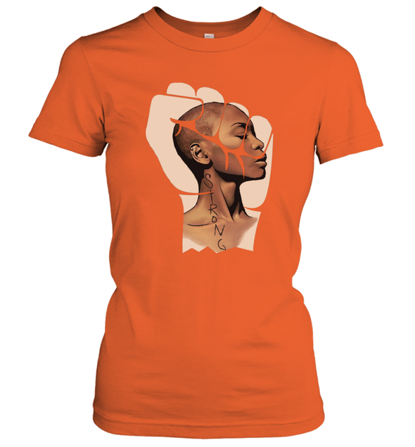 Black Women Art - Strong Afro Natural Short Hair Art Women's T-Shirt