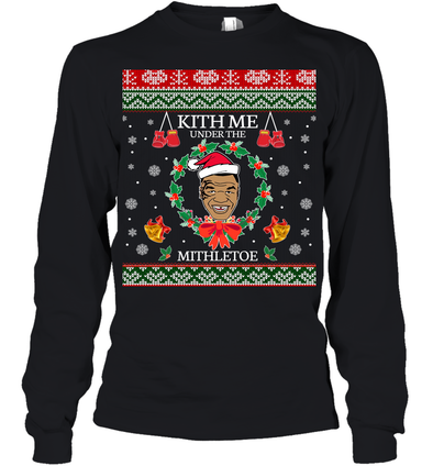 Mike Tyson Kith Me Under The Mithletoe Youth Long Sleeve