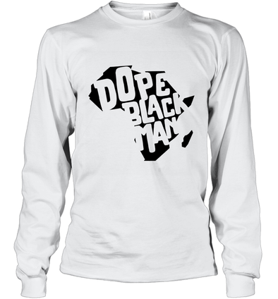 Dope Black Man Long Sleeve T-Shirt