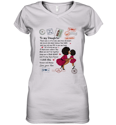 Stamps Whenever You feel - Modern Mother To Little Daughter Women's V-Neck T-Shirt