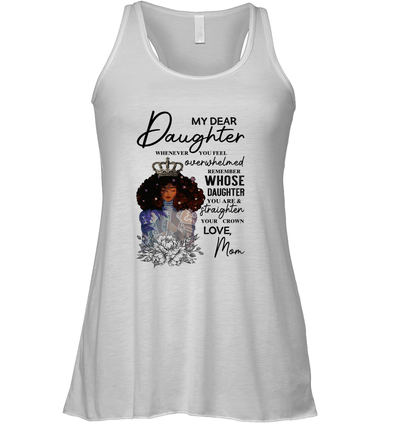 Black Queen Straighten Your Cown - Mom To Daughter Racerback Tank