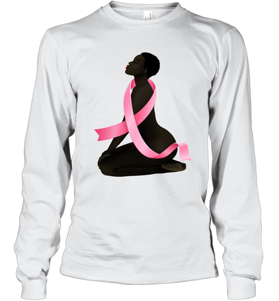 Black Women Is Fighter 2  Breast Cancer Awareness Month Long Sleeve T-Shirt