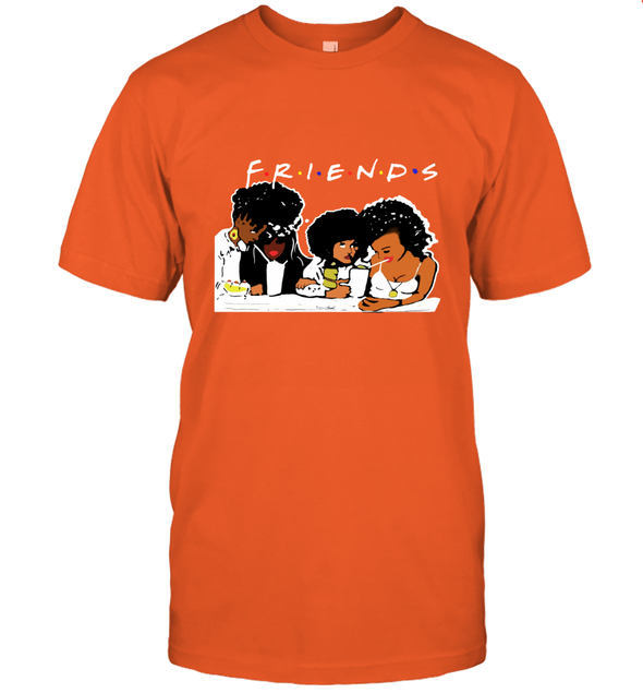 African American Black Friends With Afro Melanin Poppin Girls Party T-Shirt