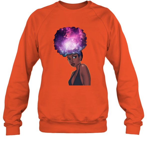 Naptural Hair Styles - Black Girls Rock Galaxy Sweatshirt