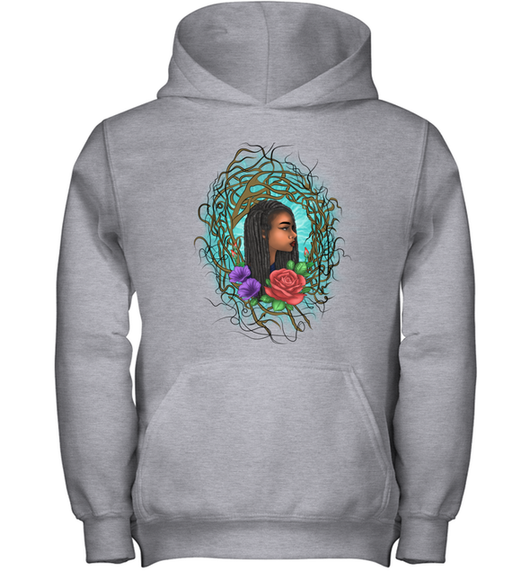 Locs Style For Women Art Wild Natural Style Long Hair Girl Youth Hoodie
