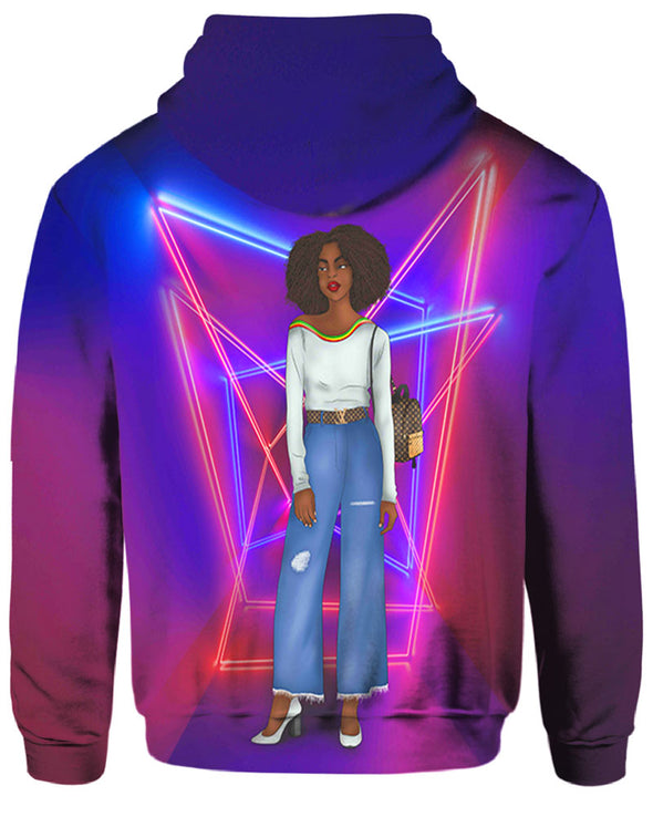 Black Girl Magic Afro Women Streetwear Style All Over Apparel