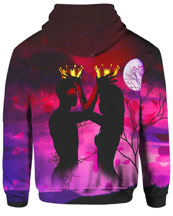 Love Couple In Night Under The Moon All Over Apparel