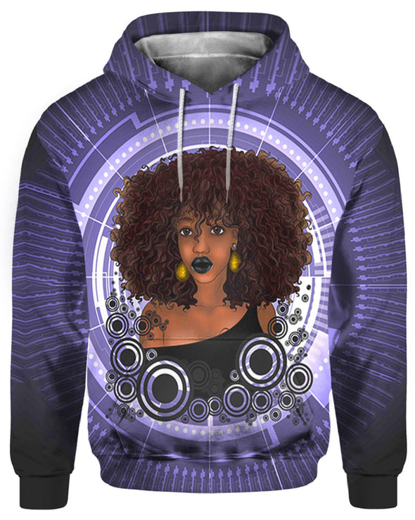 Sexy Afro Melanin Poppin Black Women All Over Apparel