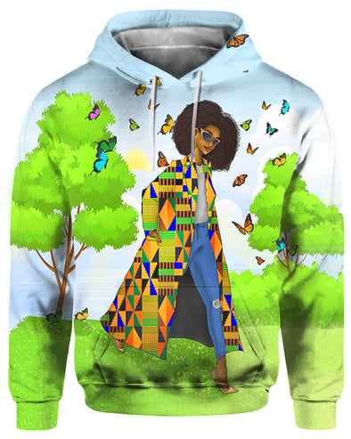 Black Women Art Keepin It Moving Natural Style All Over Apparel