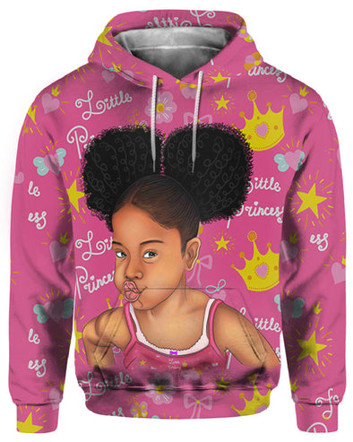 Afro Hair Little Princess Melanin Poppin All Over Apparel