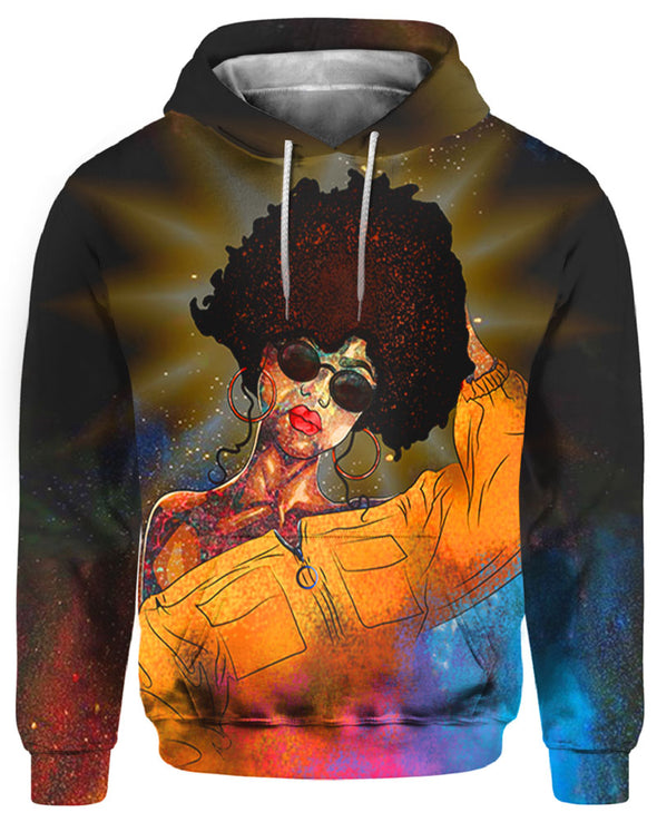 Colorful Curls Girl Beauty All Over Apparel