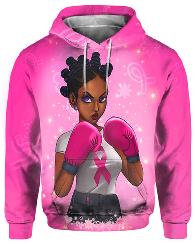 Breast Cancer Awareness Black Art All Over Apparel Dreadlocs Are Fighters