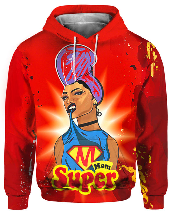 Super Mom Headwrap Gift All Over Apparel