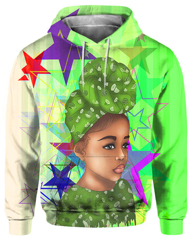 Afrocentric Afro Turban Girl All Over Apparel