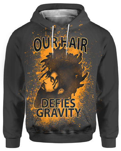 Black Men Our Hair Defies Gravity All Over Apparel