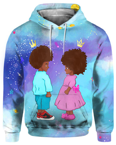 Black Couple Cute All Over Apparel