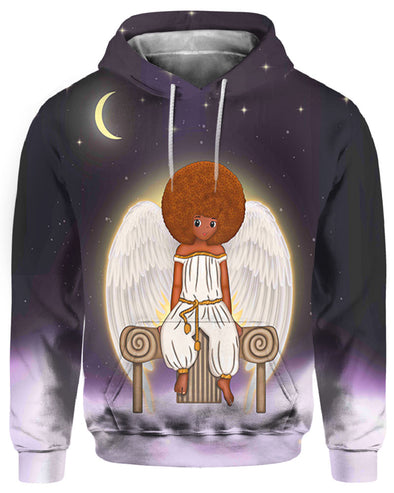 Black Kid Angel Beauty All Over Apparel