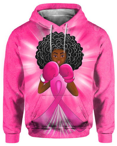 African American Art Breast Cancer Awareness Black Angel Fighter All Over Apparel